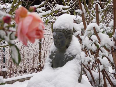 Buddha im Schnee © Sabine Witzke