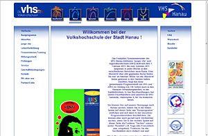 Website Volkshochschule der Stadt Hanau