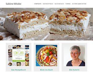 Website Sabine Witzke - Buch - LOW CARB - gesunde Leckereien