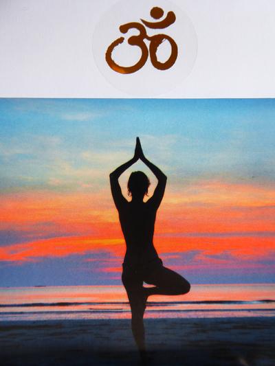 Yoga und Om Zeichen